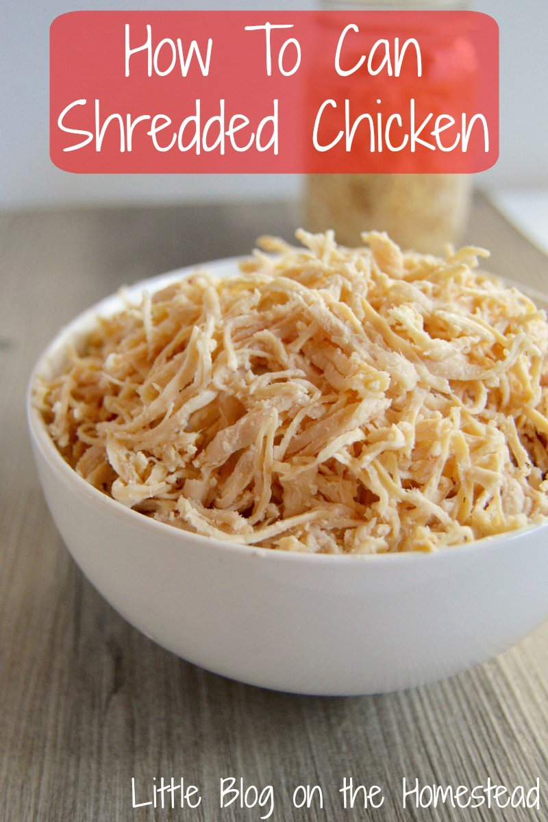 Canning Shredded Chicken