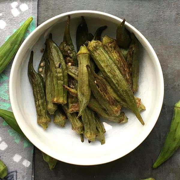 Whole Roasted Okra